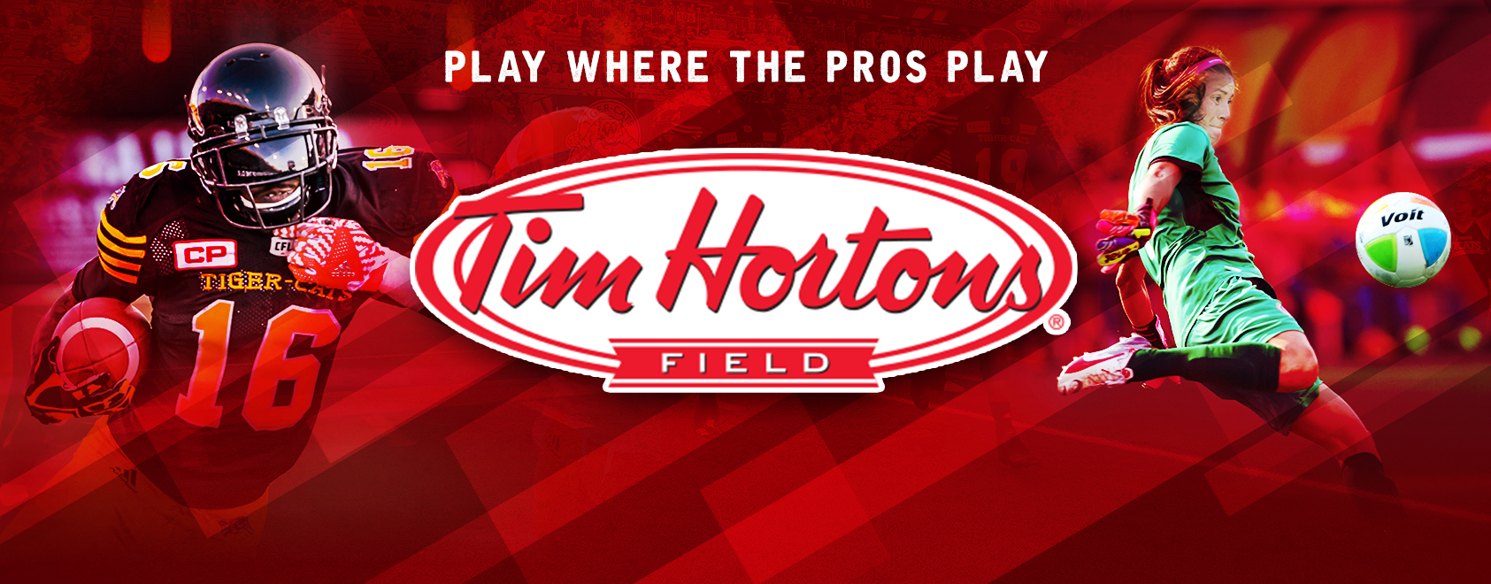 Play where the pros play - book your event at Tim Hortons Field