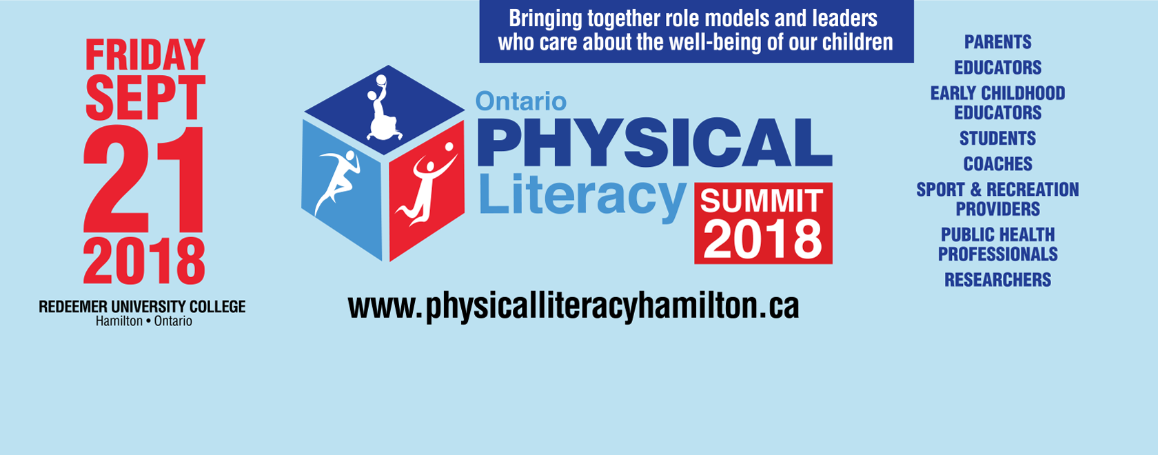 Banner for Ontario Physical Literacy Summit