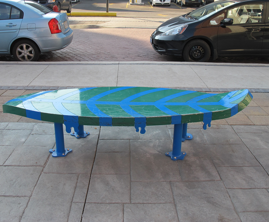 Image of Leaf Art Bench