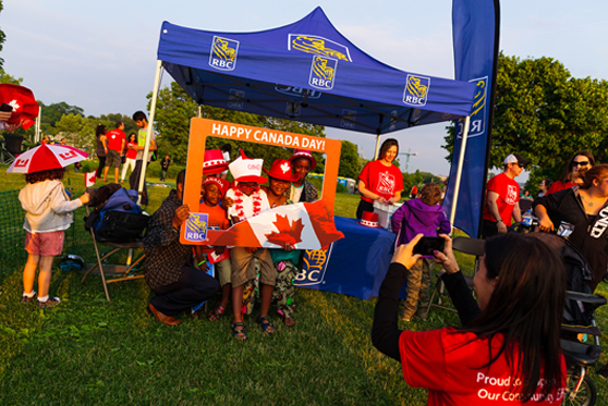 Canada Day Celelbration at the RBC photo booth