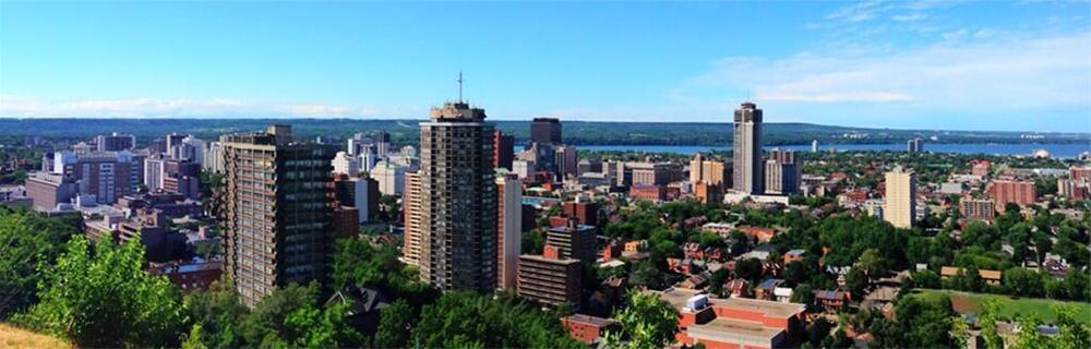 Skyline of Hamilton during the day