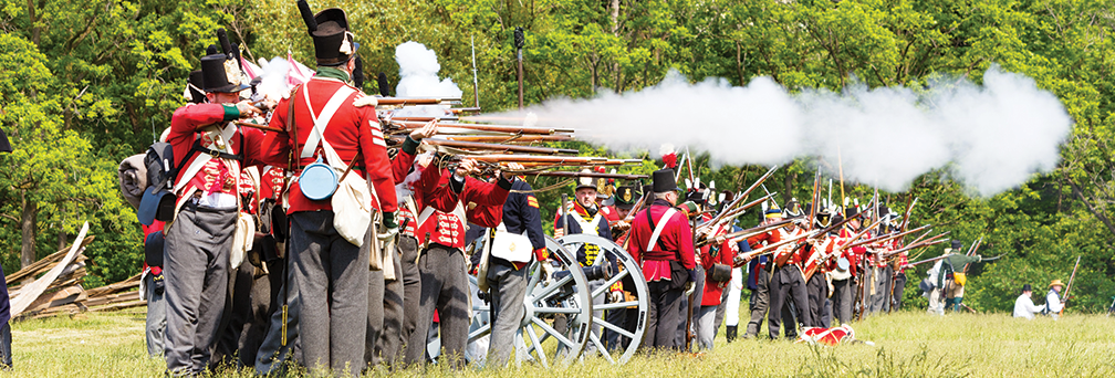 The  Re-enactment of the Battle of Stoney Creek
