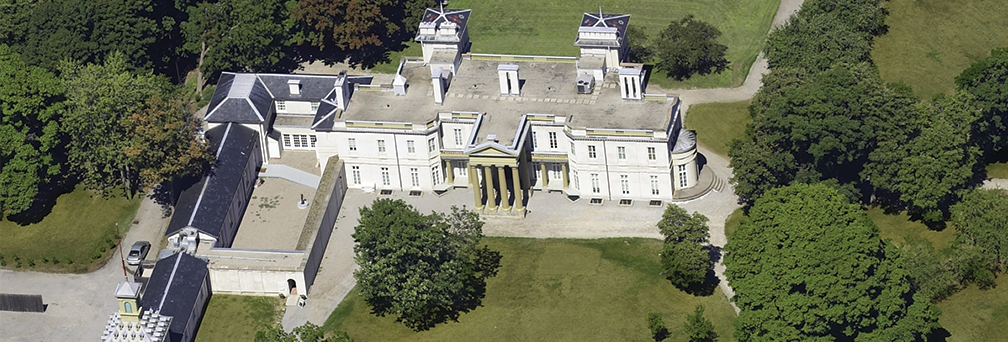 Aerial photograph of Dundurn National Historic Site