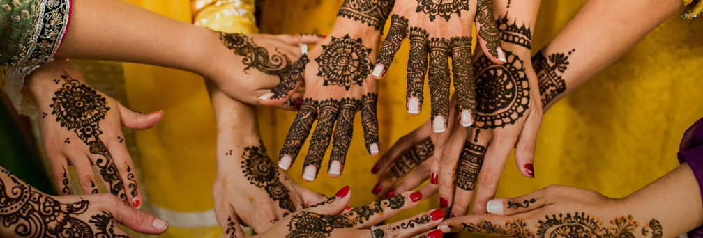 Henna art on hands
