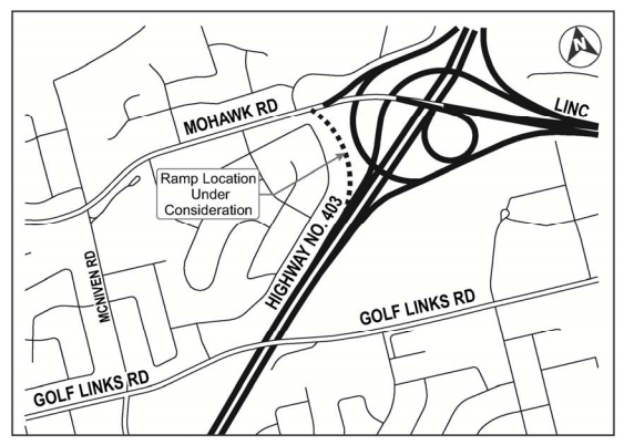 Map of the Mohawk Road Ramp EA