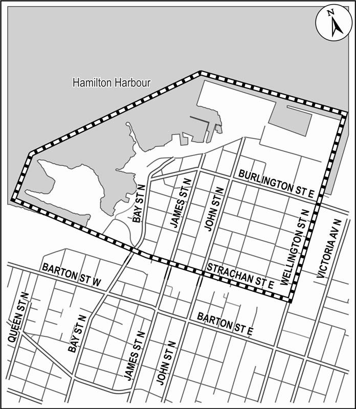Map of the North End Traffic Management Plan EA