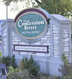 Gateway into Concession Street BIA
