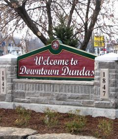 Gateway into Downtown Dundas BIA