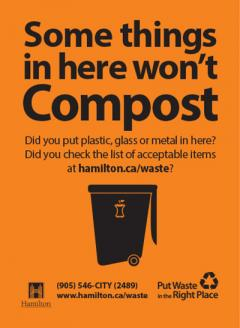 Some things in here won't compost - did you put plastic, glass or metal in here? Check the list of acceptable items