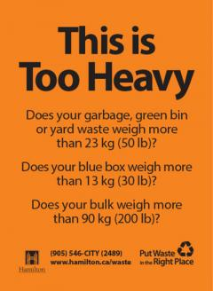 This is Too Heavy - Does your blue box weigh more than 13 kg or 30 lbs?